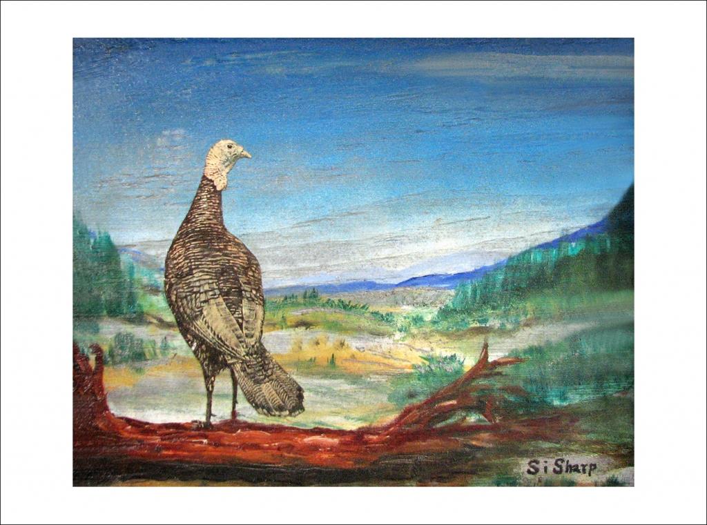Turkey on Log Perch